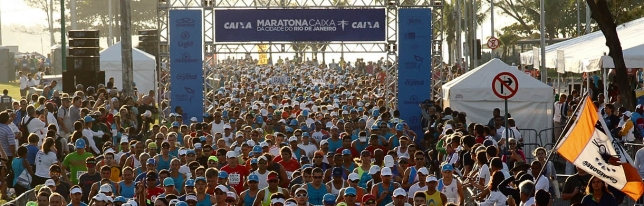 largada maratona caixa Rio de Janeiro 2012