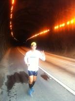 Peu na saída do túnel Cascavél