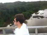 Tarcísio sob o Rio Capibaribe