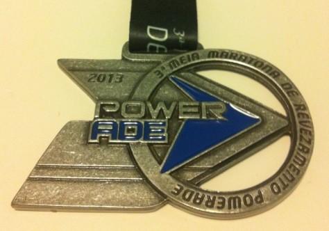 Medalha Meia Maratona Powerade de Revezamento 2013