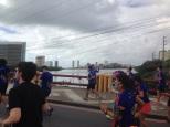 Corredores na ponte do Limoeiro