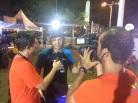 Vlad dando entrevista para o Bora Correr Freire