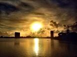 Rio Capibaribe com a Luz do Sol