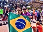 Thiago e Bruna na Maratona de Buenos Aires