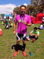 Vlad ao final da Maratona de Buenos Aires