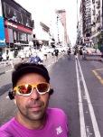 Selfie de Vlad no percurso da Maratona de Buenos Aires