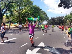 Chegada de Eduardo na Maratona de Buenos Aires