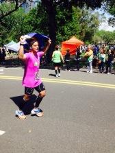 Chegada de Eraldo na Maratona de Buenos Aires